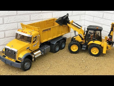 Bruder RC Construction JCB Backhoe Tractor Excavator, Dump Truck, Bulldozer Video For RC Fans
