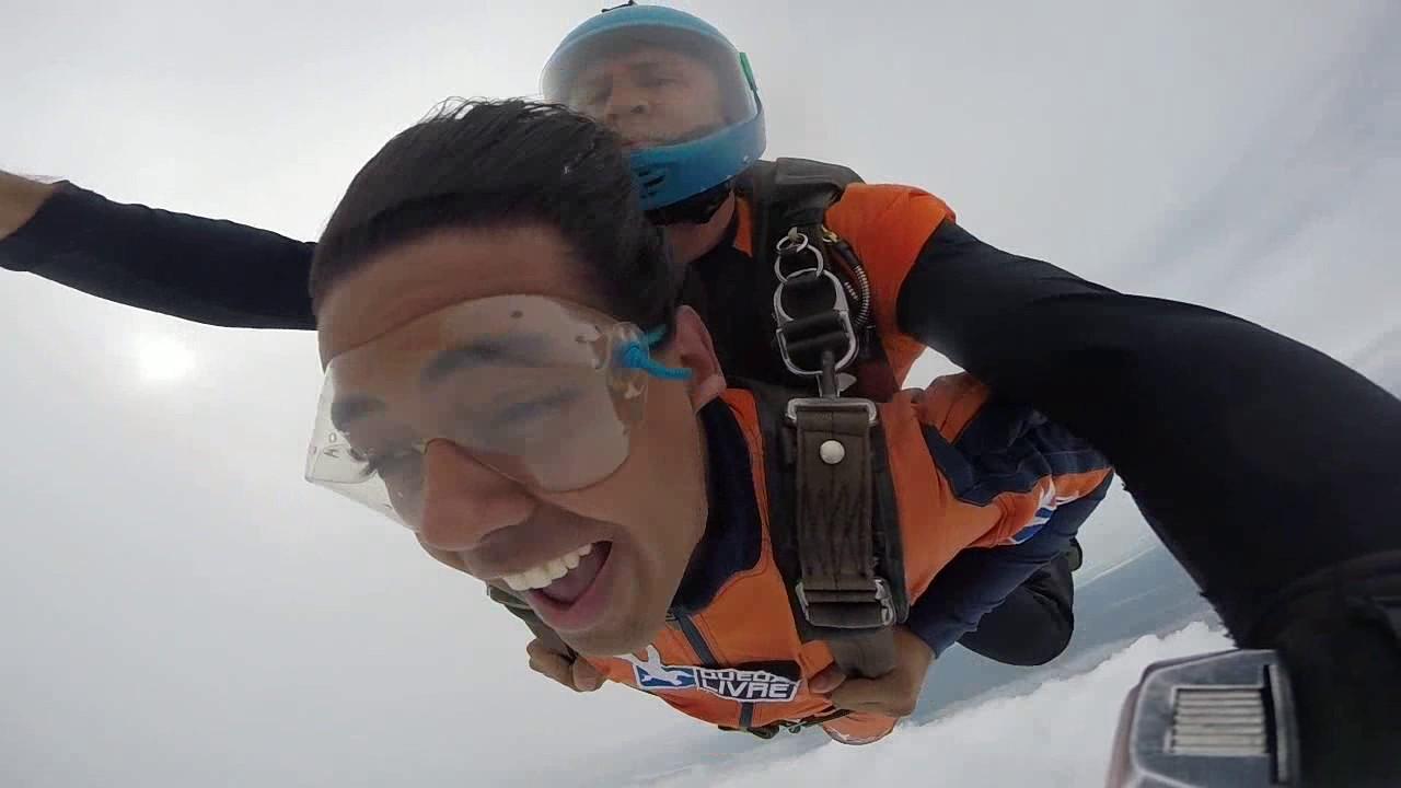 Salto de Paraquedas do Thiago na Queda Livre Paraquedismo 22 01 2017