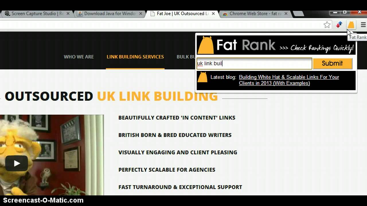 Fat Rank - SEO Rank Checker Chrome Extension By Fat Joe