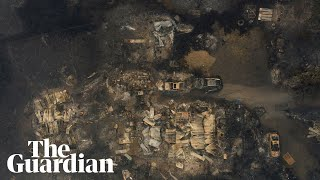 Drone video of Oregon wildfires captures razed communities and burnt-out cars