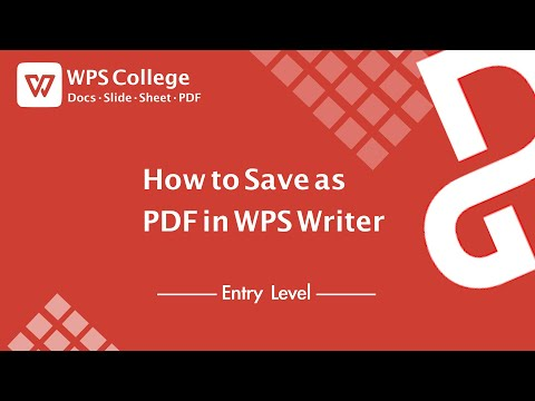 [Tutorial] How To Save As PDF In WPS Writer (Kingsoft Office) For Windows