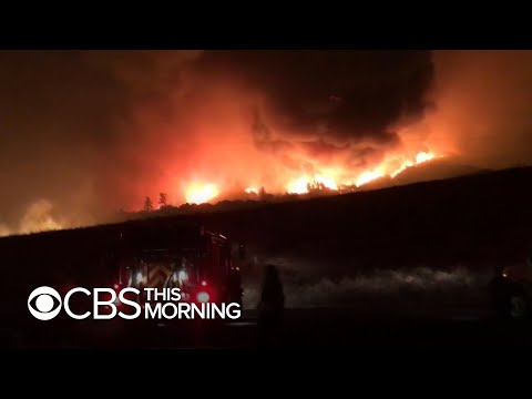 Northern California wildfire forces hundreds to flee homes
