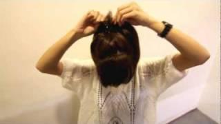 電話線綁髮-通勤女孩1分鐘必學6招綁髮小技巧.wmv