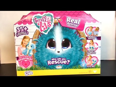 Scruff a Luvs Real Rescue Electronic Interactive Pet Unboxing & Review