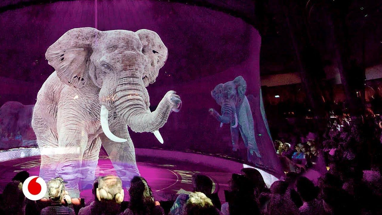 El circo que sustituye a los animales por gigantescos hologramas