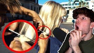 Dieses Mädchen hätte sich nicht von ihm die Haare abschneiden lassen sollen..🤮