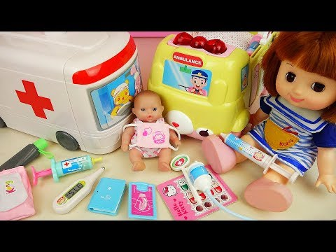 Thumbnail: Baby doll and Ambulance hosptal car toys doctor play