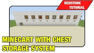 "Minecart With Chest Storage System ""tutorial"" (minecraft Xbox/ps3 Tu16)"