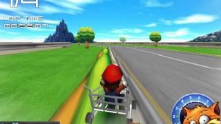Mario Market Arabası Yarışı - 3D Oyuncu - 3D Araba Oyunları