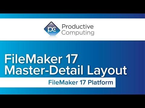 FileMaker 17 Master-Detail Layout (portal, self-join)