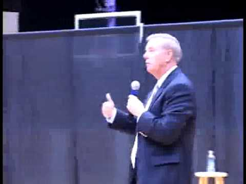 Senator Graham Slips on Basketball Court