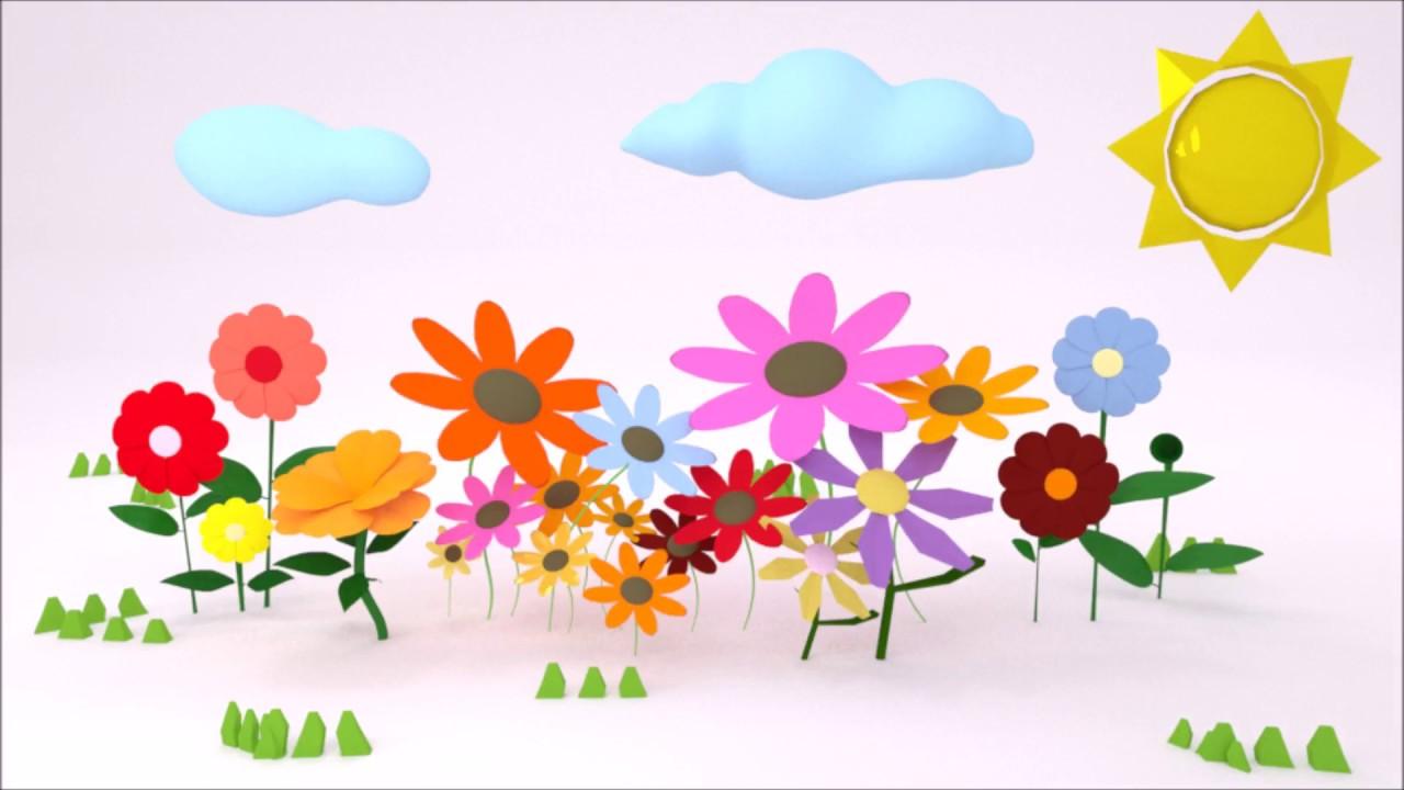 Flower garden cartoon - Khu V Ng Th N Ti N Kids Cartoon Secret Flower Garden