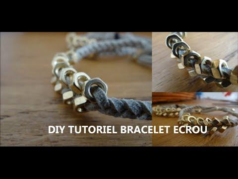 Préférence DIY}-TUTO : Bracelet avec écrou + un noeud coulissant - YouTube NZ23