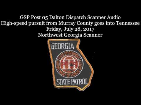 Georgia State Patrol Dispatch Scanner Audio from wild high-speed pursuit of  black SUV