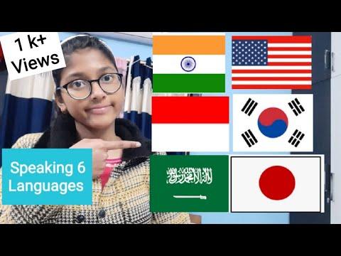Indian Girl tried to Speak 6 Different Languages| Indonesian🇮🇩,Korean🇰🇷,Hindi🇮🇳,Arabic🇸🇦, Japanese🇯🇵