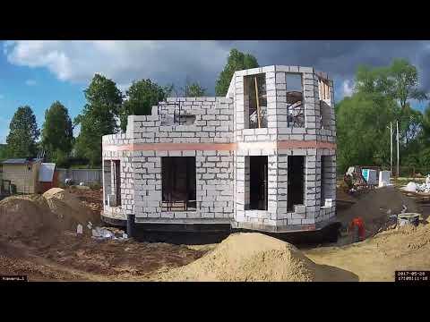 Строительство дома в Ступино. ПетроградСтрой. Газобетон.