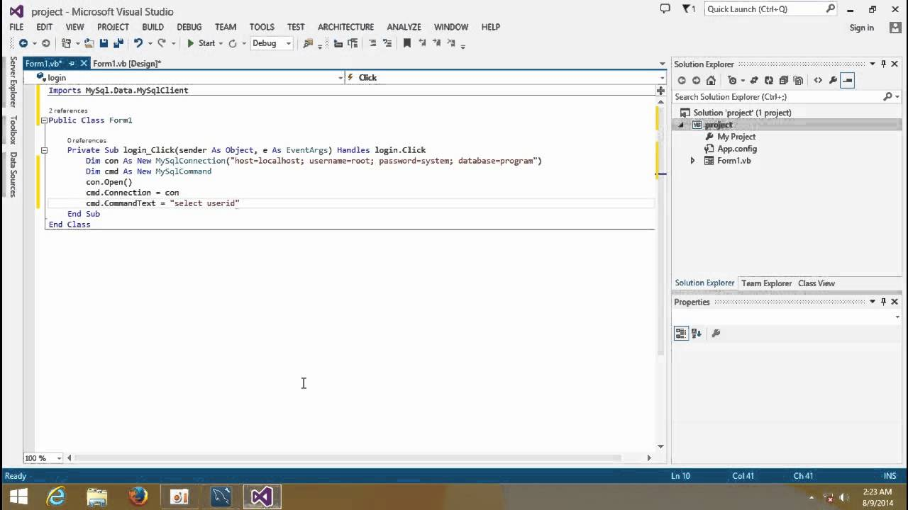 mysql vb net tutorial pdf