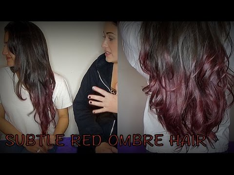 Subtle Red Ombre on Virgin Hair without bleach and with ...  Subtle Red Ombr...