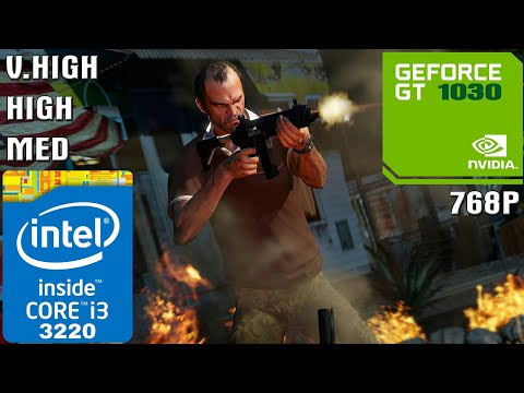 Grand Theft Auto V [PC] - I3-3220 + 4GB RAM + GT 1030