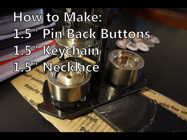 How to make Pin Back Buttons, keychains and necklaces