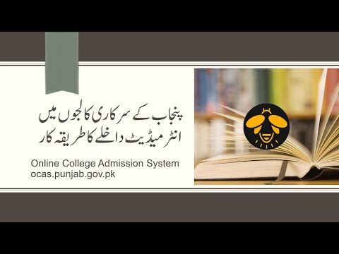 How to apply for admission in government colleges of Punjab, Pakistan
