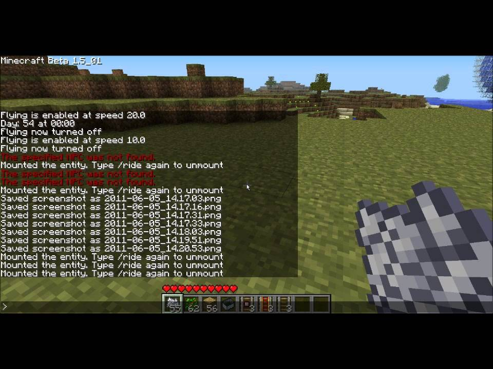 how to give night vision in minecraft command