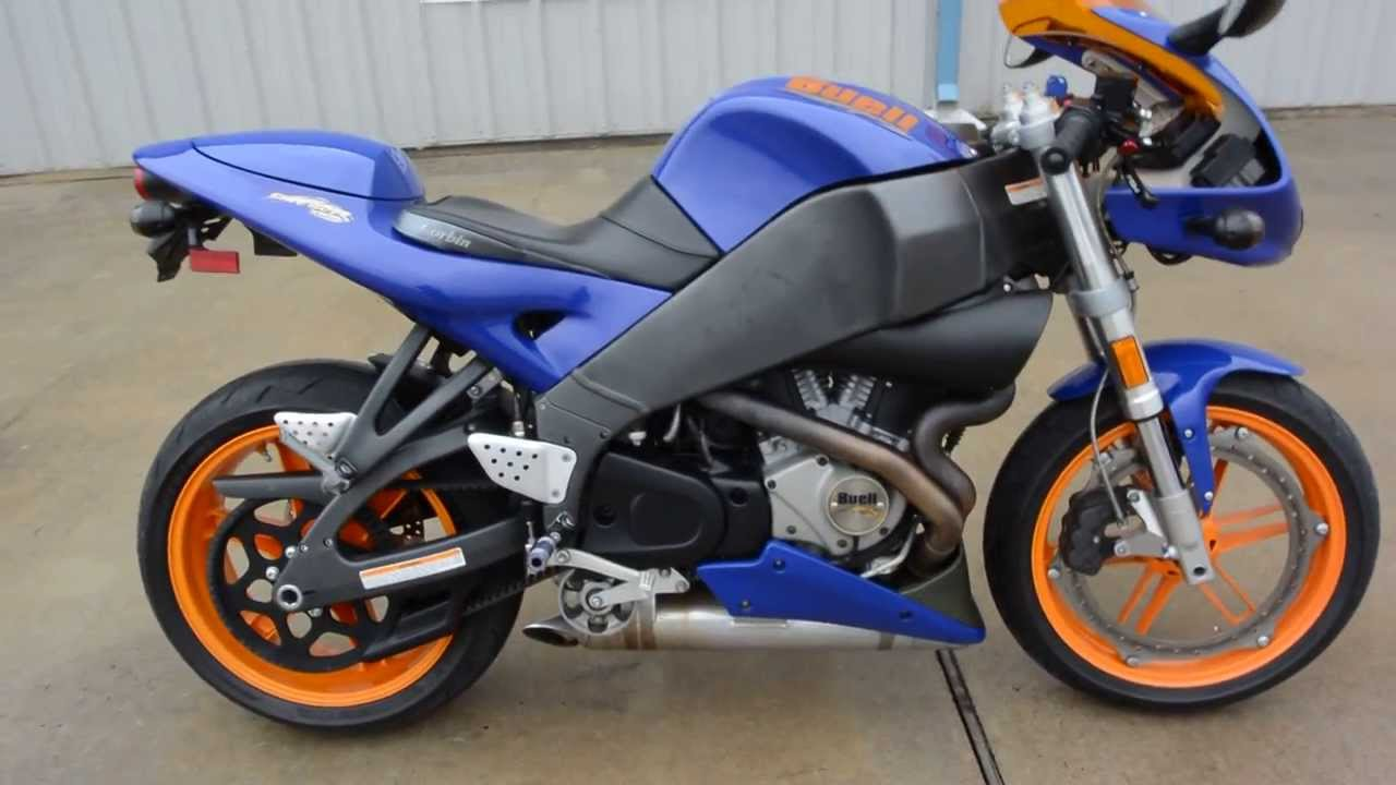 Overview and Review 2005 Buell Firebolt XB12R Blue and Orange - YouTube