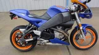 Overview and Review 2005 Buell Firebolt XB12R  Blue and Orange
