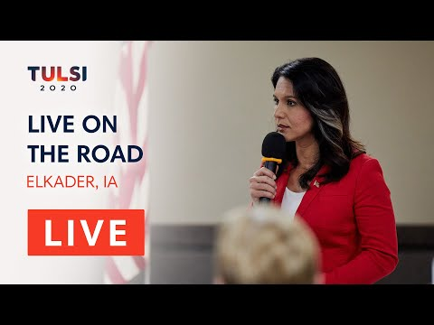 Tulsi Gabbard LIVE on the road – Passport to Victory – Elkader, IA