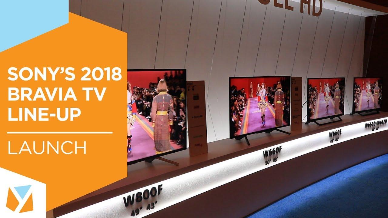 Sony's 2018 BRAVIA TV Line-up