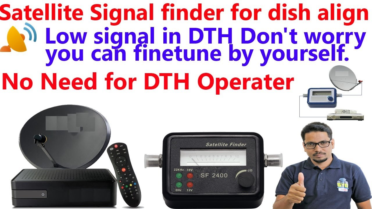 satellite signal finder for dish align (Hindi)