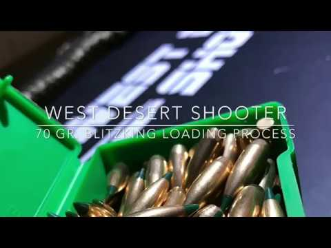 Sierra 70 Gr Blitzking Loading Process (243 Varmint Rounds)