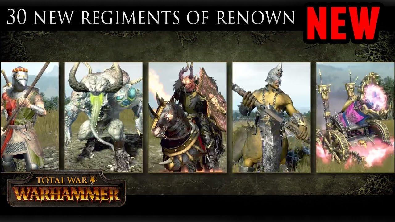 30th anniversary regiments of renown warhammer 2