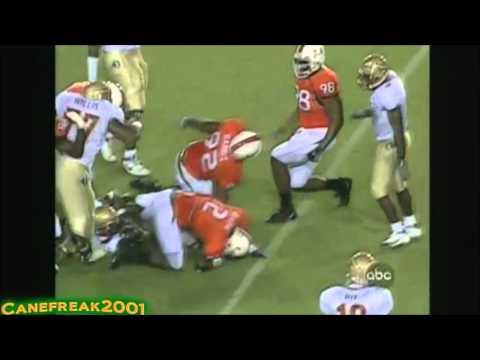 Miami Hurricanes Big Hits vs. FSU