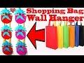 DIY Shopping Bag Wall Hanger || Tote Bag Wall Hanging Decoration Ideas