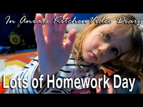 Ania's Video Diary - Lots of Homework Day - Daily Vlog