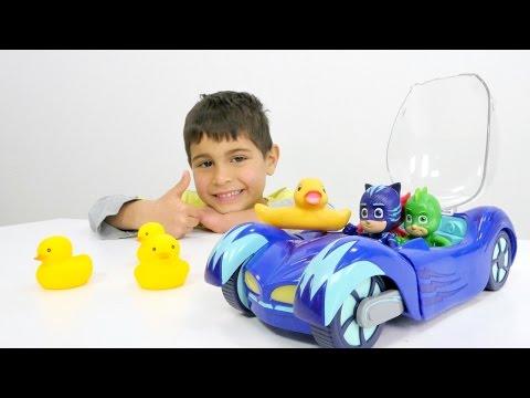 #Çizgifilmoyuncakları PJ Maskeler ile tehlikeli havuz oyunları. Türkçe izle! #Erkekçocukvideo