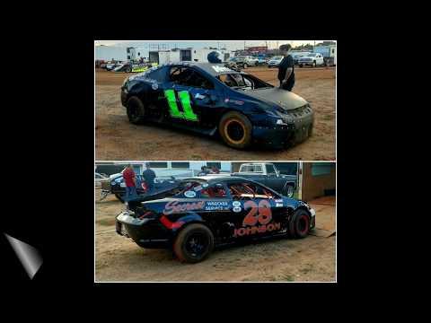 07-02-17 Jonathan Sarratt & Jay Johnson win at Cherokee Speedway