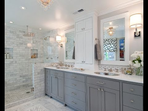 Gray And White Bathrooms