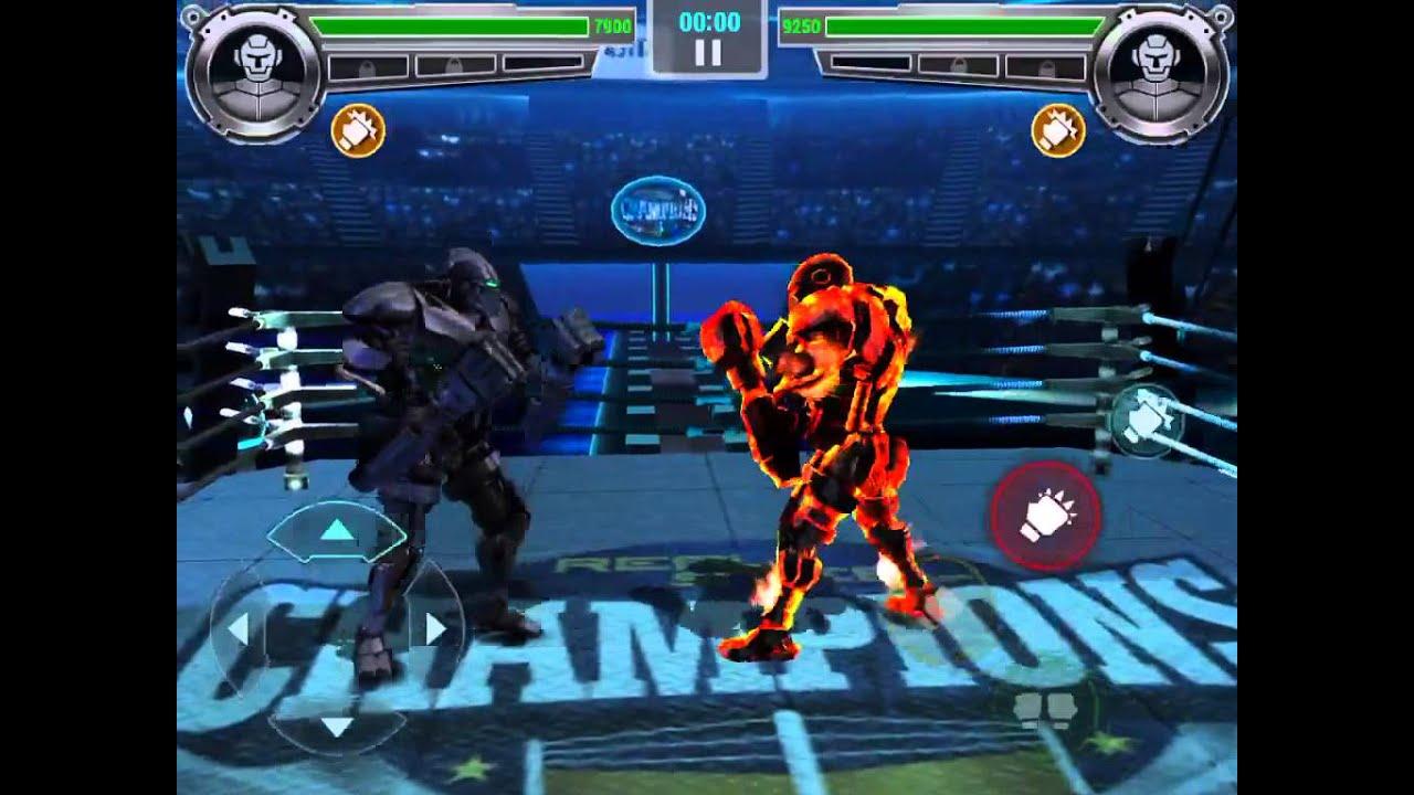 real steel champions] old zeus vs asura - youtube