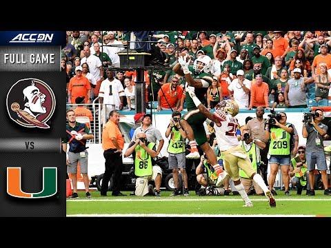 Florida State Vs Miami Full Game   2018 ACC Football