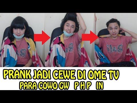 NGEBAPERIN COWO COWO DI OME TV.PRANK JADI CEWE #4