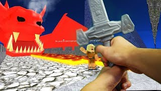 Realistic Roblox - ESCAPE THE DUNGEON AND DRAGON OBBY!