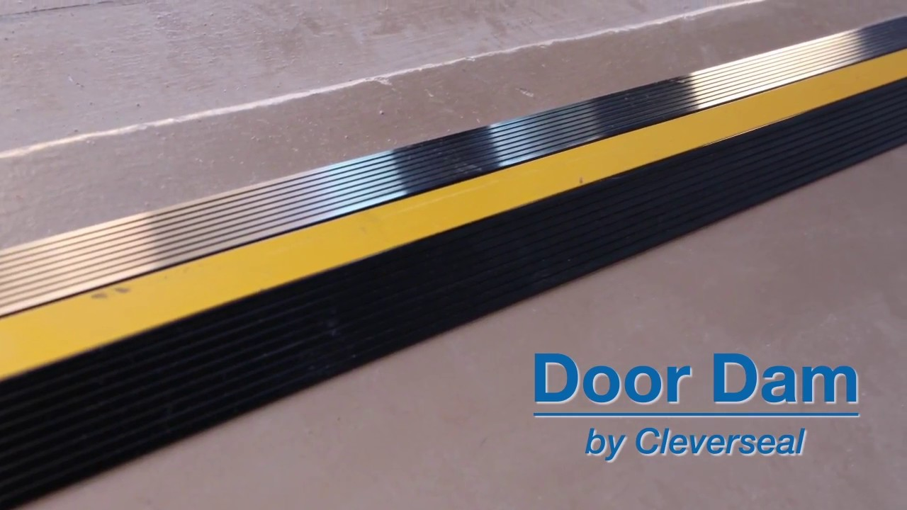 Cleverseal door dam garage door threshold seal youtube cleverseal door dam garage door threshold seal rubansaba