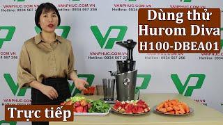 Review ép rau củ quả bằng máy ép trái cây Hurom Diva H100-DBEA01