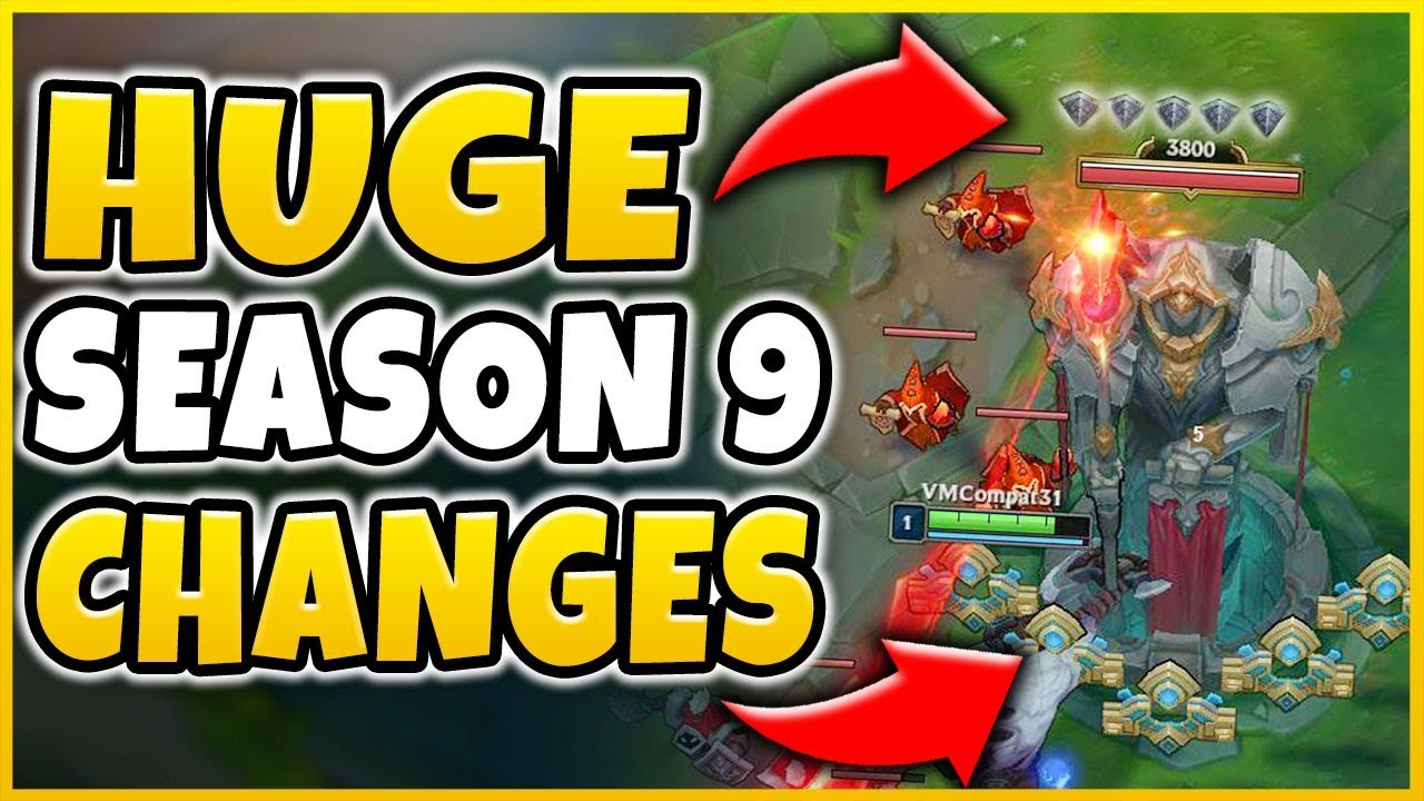 HUGE SEASON 9 CHANGES REVEALED! NEW CUSTOM RUNES, BARRICADE TOWERS & MUCH  MORE! - League of Legends