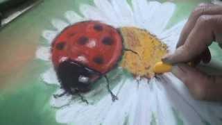 1 урок. Рисуем ромашку...пастель(Первый урок рисования пастелью для начинающих. Для начала работы вам понадобится сухая пастель, наждачная..., 2013-07-10T03:30:36.000Z)