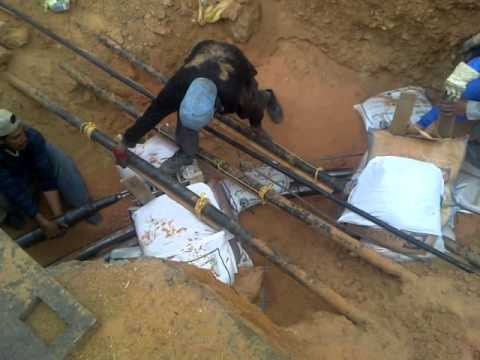 PULLING CABLE OF 132KV IN TABUK 3,SAUDI ARABIA