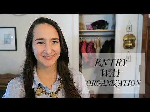 ENTRY WAY ORGANIZATION + DIY DOOR TRIM
