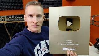 ЗОЛОТАЯ кнопка YouTube ... Новый тестер для тачек!